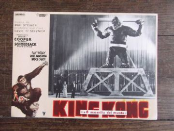 King Kong, Spanish Advert, Kong captured!!!, Fay Wray, circa 60s